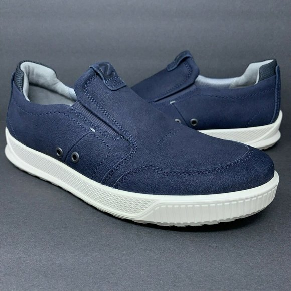 Ecco Byway Casual Sneaker Slip On Navy Blue Shoes